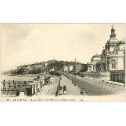 carte postale ancienne 76 LE HAVRE. Boulevard Maritime et Casino