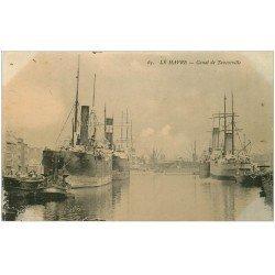 carte postale ancienne 76 LE HAVRE. Canal de Tancarville 1917
