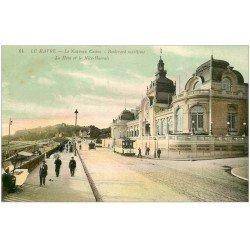 carte postale ancienne 76 LE HAVRE. Casino Marie-Christine 1913 Boulevard Maritime
