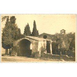 carte postale ancienne 06 CHATEAUNEUF de GRASSE. Chapelle Notre-Dame de Brusc. Carte Photo