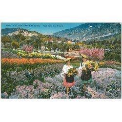 carte postale ancienne 06 Côte d'Azur. Cueillette des Fleurs