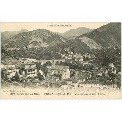 carte postale ancienne 06 ESCARENE. Le Village et Pont. Giletta