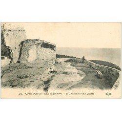carte postale ancienne 06 EZE. Terrasse du Vieux Château