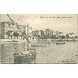 carte postale ancienne 06 GOLFE JUAN. Plage et Quai 1904