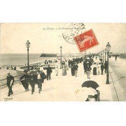 carte postale ancienne 76 DIEPPE. Boulevard Maritime 1907