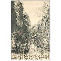 carte postale ancienne 06 GORGES DU LOUP. Sentier 1903