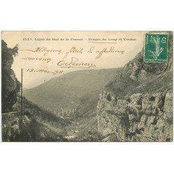 carte postale ancienne 06 GORGES DU LOUP. Viaduc ligne du Sud 1911
