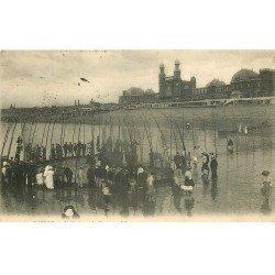 carte postale ancienne 76 DIEPPE. Casino et Parc à Poissons 1907