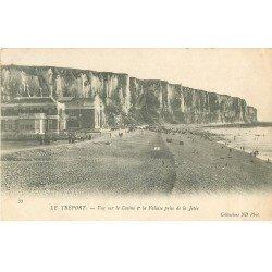 carte postale ancienne 76 LE TREPORT. Casino et Falaise 1904