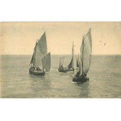 carte postale ancienne 76 LE TREPORT. Barques de Pêche 1916