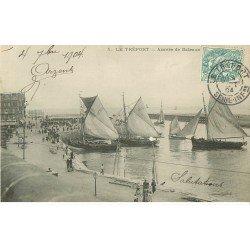 carte postale ancienne 76 LE TREPORT. Arrivées des Bateaux de Pêche 1904