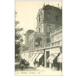 carte postale ancienne 06 GRASSE. Le Casino. Journaux Le Petit Marseillais 1908