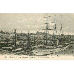 carte postale ancienne 76 LE HAVRE. Bassin du Commerce Quai Orléans