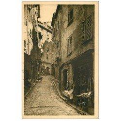 carte postale ancienne 06 GRASSE. Vieille Rue épicerie