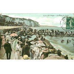 carte postale ancienne 76 DIEPPE. Casino 1910 et Bains. Petit pli coin droit