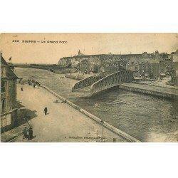 carte postale ancienne 76 DIEPPE. Grand Pont Tournant du Pollet ouvert 385