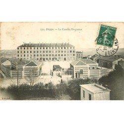 carte postale ancienne 76 DIEPPE. Caserne Duquesne Militaires 1908
