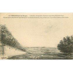carte postale ancienne 76 DIEPPE. Aquarelle Ferret Bibliothèque