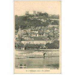 carte postale ancienne 01 TREVOUX. Traversée de la Saône en barque