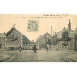 carte postale ancienne 76 FECAMP. Distillerie du Suprême Fécamp 1906