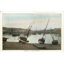 carte postale ancienne 76 FECAMP. L'Avant-Port