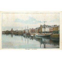 carte postale ancienne 76 FECAMP. Le Port