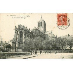 carte postale ancienne 76 FECAMP. Abside Eglise 1908