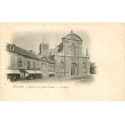 carte postale ancienne 76 FECAMP. Eglise Sainte- Trinité vers 1900 Librairie Auber