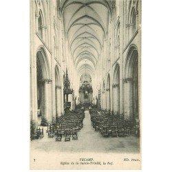 carte postale ancienne 76 FECAMP. Eglise Sainte- Trinité Nef