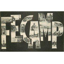 carte postale ancienne 76 FECAMP. Fantaisie multivues 1905