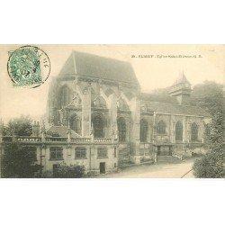 carte postale ancienne 76 ELBEUF. Eglise Saint-Etienne 1907