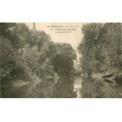 carte postale ancienne 76 ELBEUF. Bras de la Seine 1905