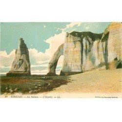 carte postale ancienne 76 ETRETAT. Aiguille Falaises 1917