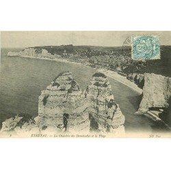 carte postale ancienne 76 ETRETAT. Chambre Demoiselles 1907