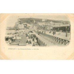carte postale ancienne 76 ETRETAT. Terrasse du Casino 1899