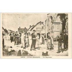 carte postale ancienne 01 Un Types Bressans. Un Baptême