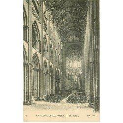 carte postale ancienne 76 ROUEN. Promotion : Cathédrale intérieur