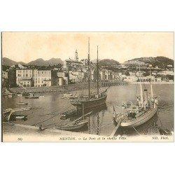 carte postale ancienne 06 MENTON. Port et vieille Ville 667