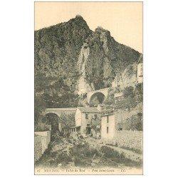 carte postale ancienne 06 MENTON. Vallée du Réal Pont Saint-Louis