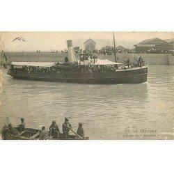 carte postale ancienne 76 LE TREPORT. Arrivée du Mercure 1906