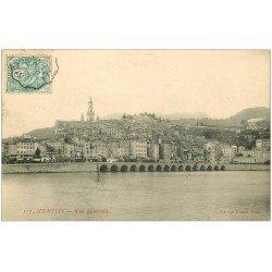 carte postale ancienne 06 MENTON. Vue générale vers 1906