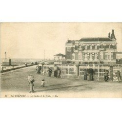 carte postale ancienne 76 LE TREPORT. Casino et Jetée