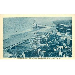 carte postale ancienne 76 LE TREPORT. Casino et Jetée 73