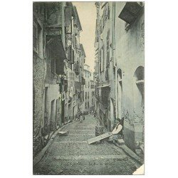 carte postale ancienne 06 NICE. Artisan Rue du Malonas (défauts)