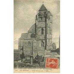 carte postale ancienne 76 LE TREPORT. Eglise Saint-Jacques 1919