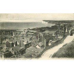 carte postale ancienne 76 LE TREPORT MERS. Vue générale 1913