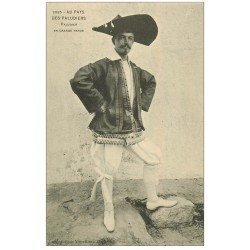 carte postale ancienne 44 AU PAYS DU SEL. Paludier en grande tenue