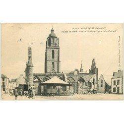 carte postale ancienne 44 BOURG-DE-BATZ. Notre-Dame du Murier Eglise Saint-Guénolé 1906