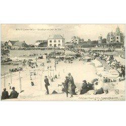 carte postale ancienne 44 BOURG-DE-BATZ. Plage Jour de Fête