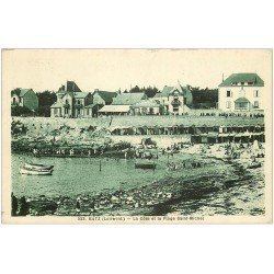 carte postale ancienne 44 BOURG-DE-BATZ. Plage Saint-Michel